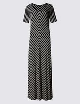 Marks and Spencer Striped Short Sleeve Maxi Dress
