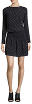 Nicole Miller Malibu Ski Sweater Print Mini Dress