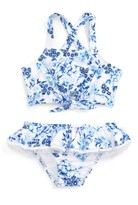 Seafolly Girl's Forget Me Not Tankini Two-Piece Swimsuit