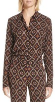 A.L.C. Women's Aubrey Print Silk Top