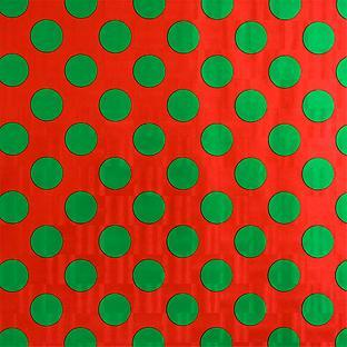 Container Store Wrap Green Dots on Red