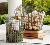 Pottery Barn Wire Basket