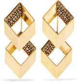 Erickson Beamon Smoking Jacket Gold-plated Swarovski Crystal Earrings - one size