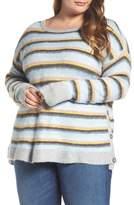 Caslon Side Button Sweater (Plus Size)