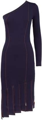 STAUD Celia One-Shoulder Denim Dress