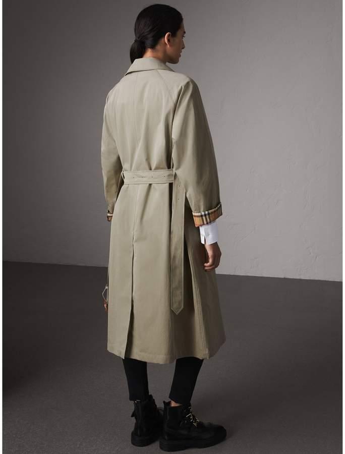 Burberry The Brighton - Extra-long Car Coat , Size: 08, Green