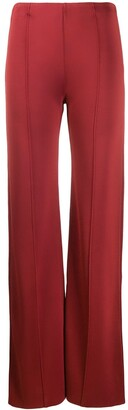 Valentino Piped Seams Flared Trousers