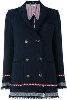 Thom Browne double breasted blazer - women - Silk/Cotton - 40
