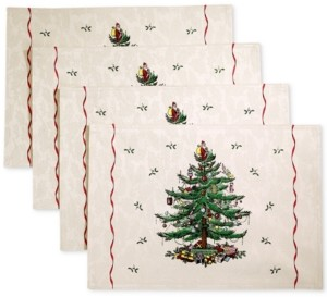 Spode Christmas Tree Set of 4 Placemats, Created for Macy's