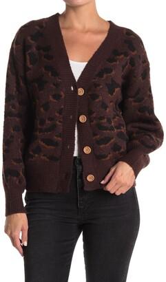 Double Zero Leopard Button Front Cardigan