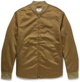 Acne Studios Mylon Matt Satin Bomber Jacket - Green