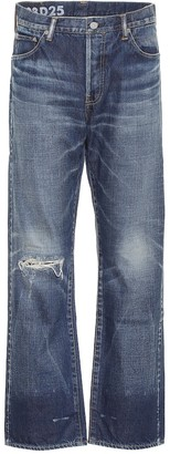Visvim High-rise distressed jeans