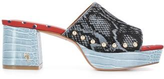 Kurt Geiger Beatriz snakeskin effect sandals