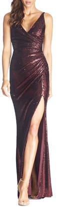 Dress the Population Jordan Sequin V-Neck Sleeveless Gown