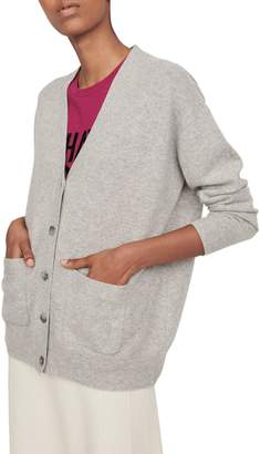 Maje Maence Button-Front Cashmere Cardigan