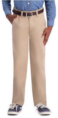 Haggar Husky Boys Sustainable Chino, Slim Fit, Flat Front