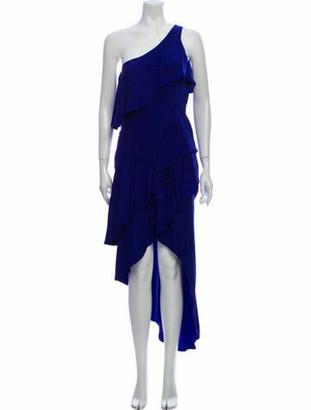 HANEY Silk Long Dress Blue