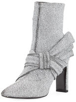 Sigerson Morrison Helin Metallic Stretch-Knit Bootie