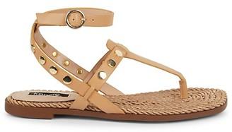 Kensie Embellished Flat Sandals