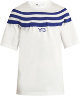 Y-3 Striped cotton-jersey T-shirt
