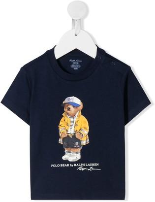 Ralph Lauren Kids CP-93 Bear-print cotton T-shirt