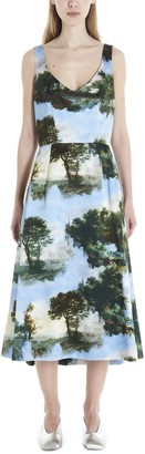 Comme des Garcons Graphic Printed Flared Dress