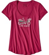 Patagonia Women's Live Simply Market Bike Cotton Scoop T-Shirt