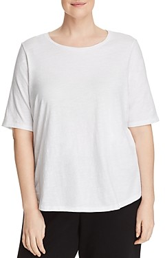 Eileen Fisher, Plus Size System Organic-Cotton Tee