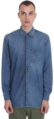 Golden Goose Kei Shirt In Blue Denim