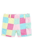 Vineyard Vines Toddler Girl's Whale Patchwork Boulevard Shorts