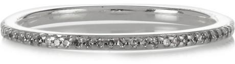 Monica Vinader Eternity sterling silver diamond ring