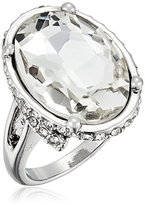 GUESS Faceted Oval Stone Ring, Size 7
