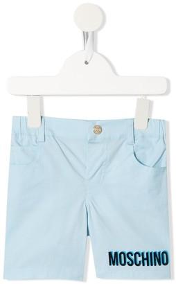 MOSCHINO BAMBINO Teddy Bear Logo Shorts