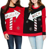 It's Our Time IT S OUR TIME Two Person Ugly Christmas Sweater-Juniors