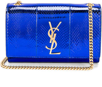 Saint Laurent Small Kate Bag in Shiny Blue | FWRD