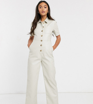 Wild Honey boiler suit in faux leather