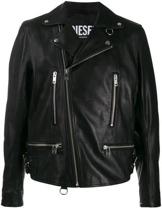 Diesel asymmetrical zip biker jacket