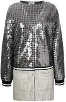 Aviu long sequin panel cardigan