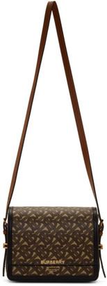 Burberry Brown E-Canvas Small Grace Bag