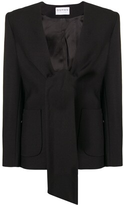 Osman Spencer tie-front jacket