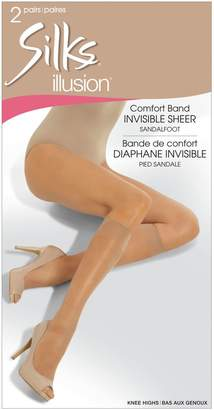 Silks Two-Pack Illusion Knee Highs