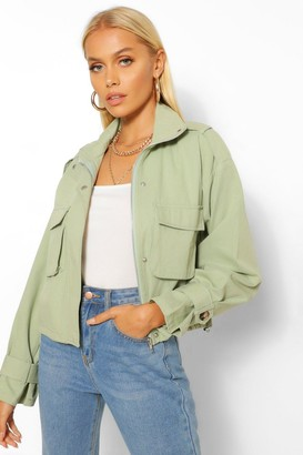 boohoo Zip Through Utility Pocket Jacket
