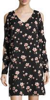 philosophy Cutout-Sleeve V-Neck Shift Dress, Black Pattern