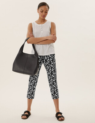 Marks and Spencer Mia Slim Fit Floral Cropped Trousers