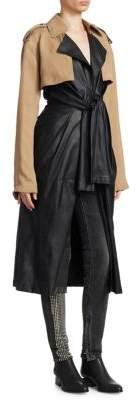 Alexander Wang Leather Tie Front Coat