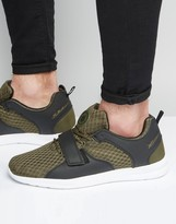 Pull&bear Trainers In Khaki With Velcro Strap