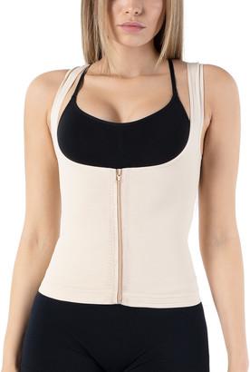 BEIGE Formeasy FORMeasy Women's Corsets  Zip Wide-Strap Underbust Camisole - Women & Plus