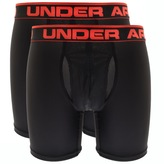 Under Armour Boxerjock 2 Pack Boxer Briefs Black