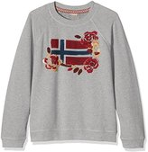 Napapijri Women's Baila Sweatshirt, Grey (Med Grey Mel)