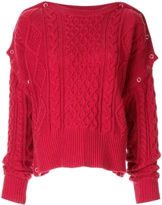 Puma Maison Yasuhiro cable knit slouchy sweater